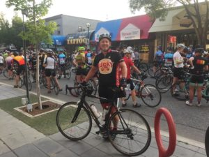 DLO office moving experts - Bob participating in the Penticton Gran Fondo